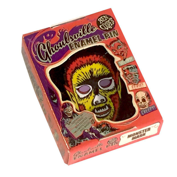 Ben Cooper Halloween Monster Mask Enamel Pin • Electric Wolfman