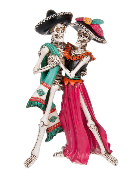 Day of the Dead Dancing Skeleton Couple Figurine