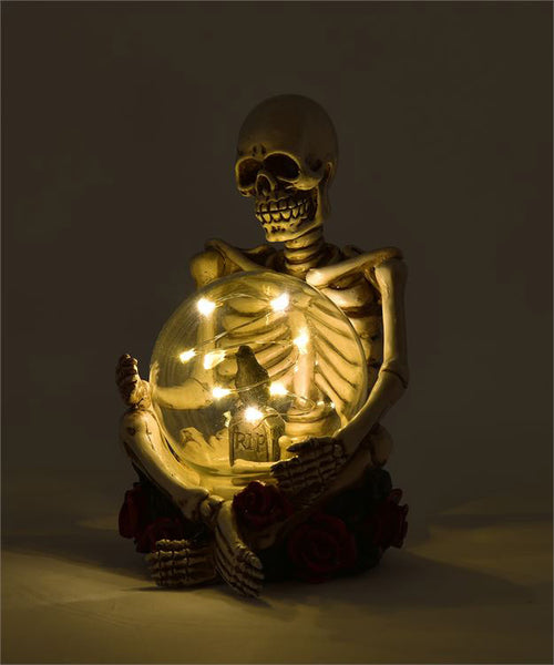 Skeleton with Tombstone Globe (LED)