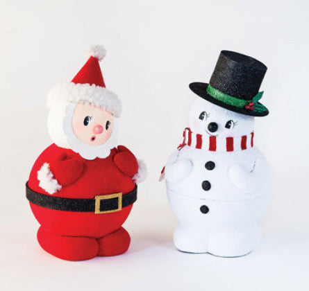 Santa and Snowman Pair • Roly Poly