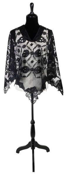 Skull and Bat Poncho