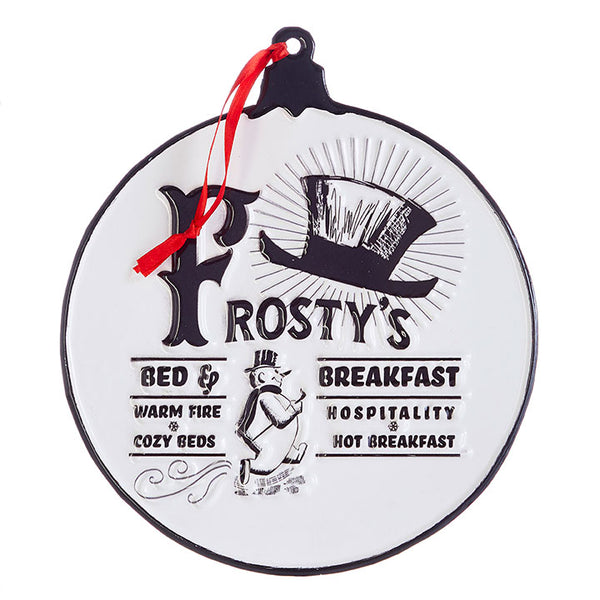 Frosty's Bed & Breakfast Sign Ornament