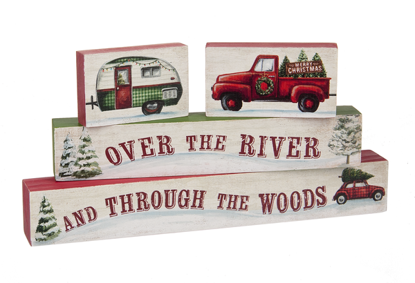 Over the River Stacking Blocks (Set of 4)