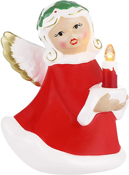 Retro LED Ceramic Angel (Mr. Christmas)