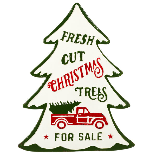 Christmas Trees for Sale Tin Sign