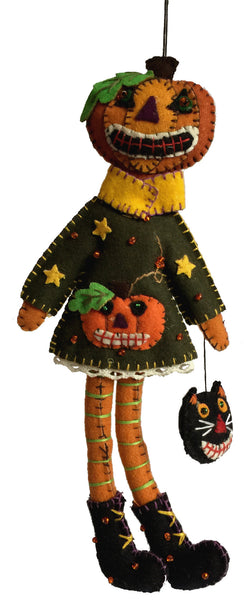 Pumpkin Girl Ornament