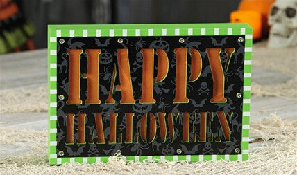 Happy Halloween LED Block Sign