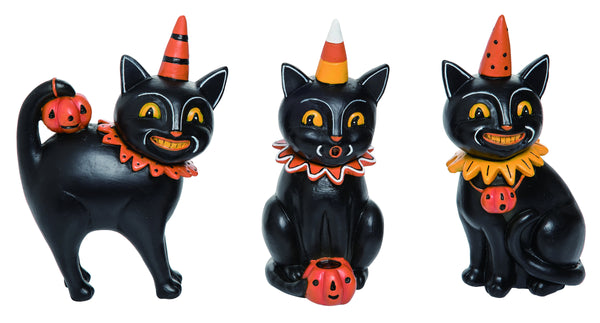 Johanna Parker Design • Black Cat Jack Figurine (set of 3)