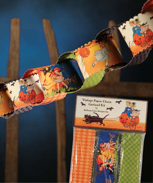 Halloween Paper Chain Garland Kit