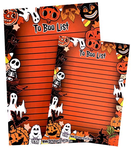 TO BOO LIST Notepad (set of 2)
