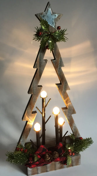 Wood Christmas Tree (LED)