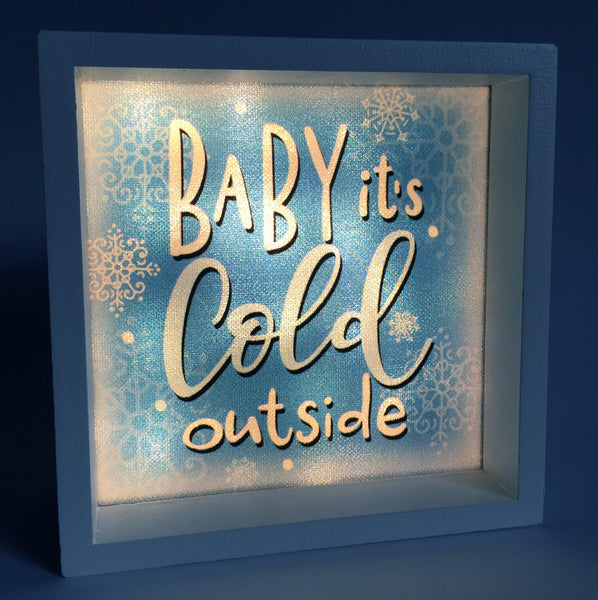 Baby, it's Cold Outside Light Box