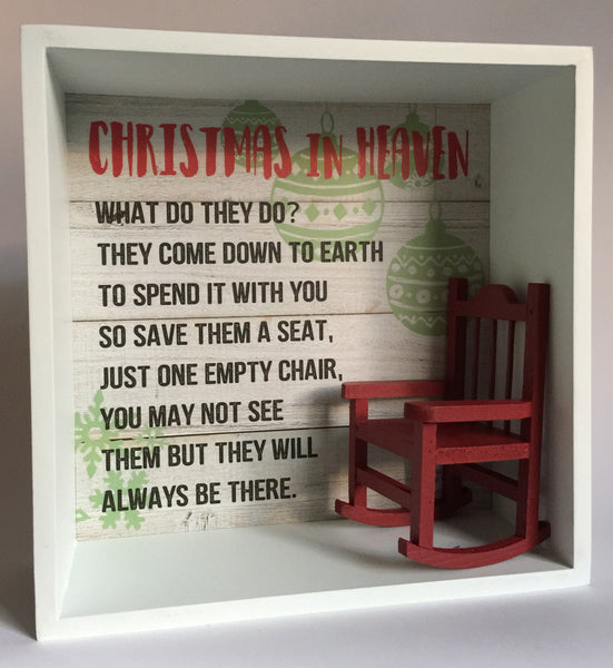 Christmas in Heaven Box Sign