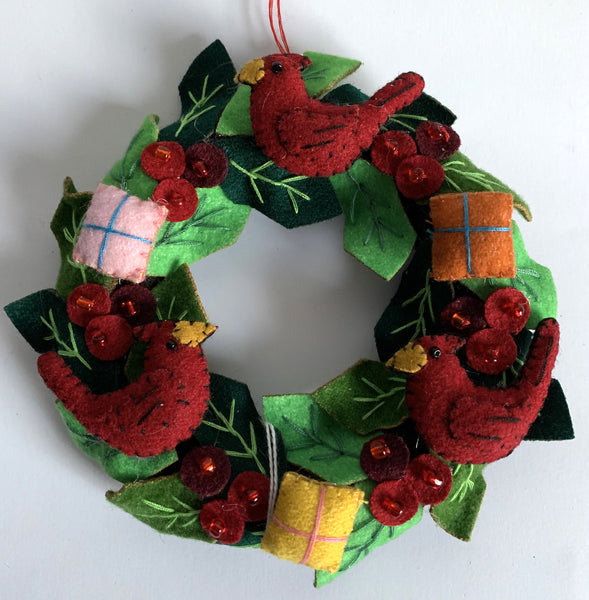 Cardinal Wreath Ornament