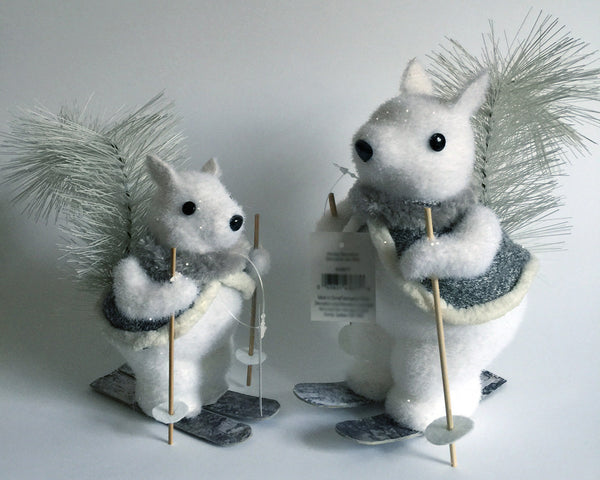 Squirrel Pair Skiing