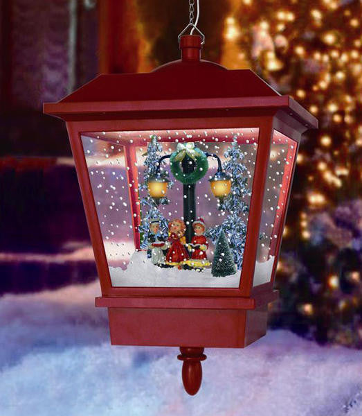 Snowing Hanging LED Lantern with Choir