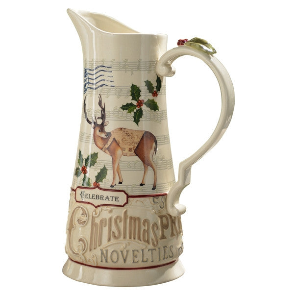 Deer Christmas Pitcher