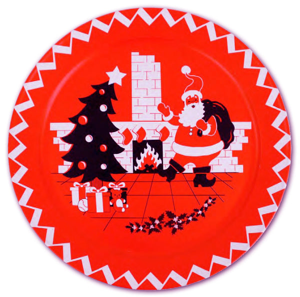 Retro Santa Tin Tray