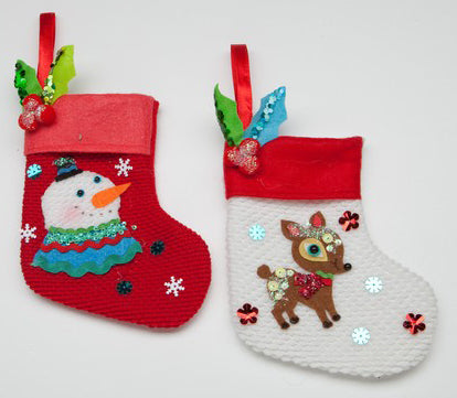 Retro Stocking Ornament (Pair)