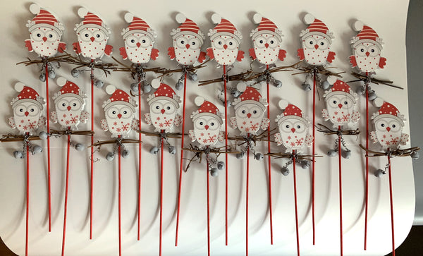 Owl Jingle Bell Pick (Lot of 17)