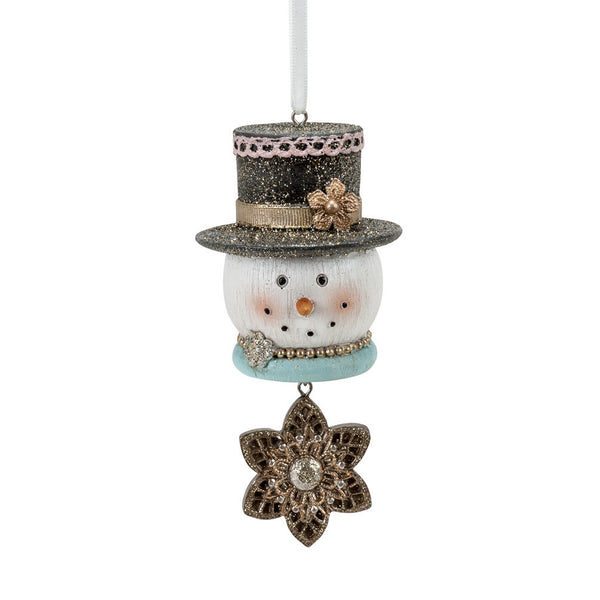 Snowman Glitter Hat Ornament