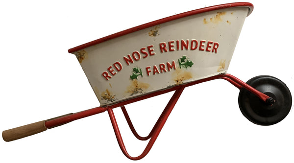 Red Nose Reindeer Farm Wheelbarrow