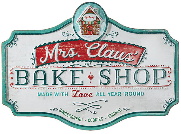 Mrs. Claus' Bake Shop Sign