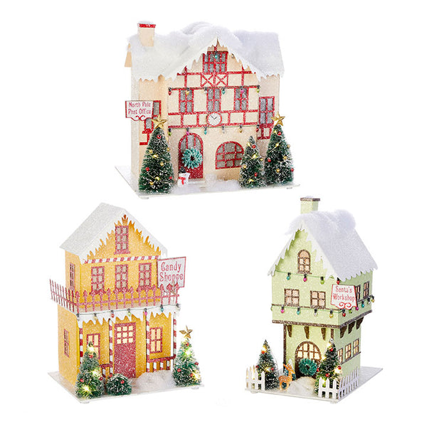 North Pole Village LED House (set of 3)