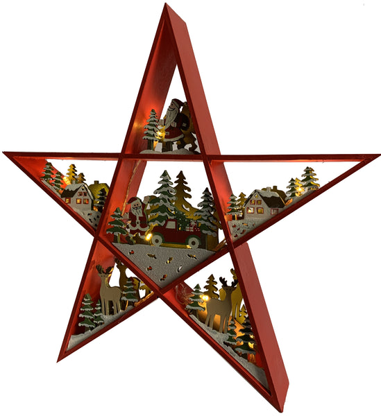 Christmas Star Scene (LED)