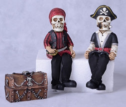 Skeleton Pirate & Mate Shelf Sitters (3pc set)
