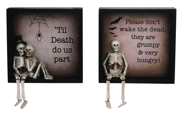 Skeleton Frame Decor (set of 2)