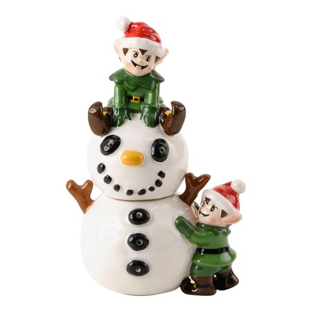 Retro Elves & Snowman Salt and Pepper