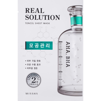 Missha Real Solution Tencel Sheet Mask Pore Control - Missha Portugal