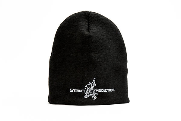 USA Made - Black Thinsulate Knit Beanie Cap - Logo and Lettering