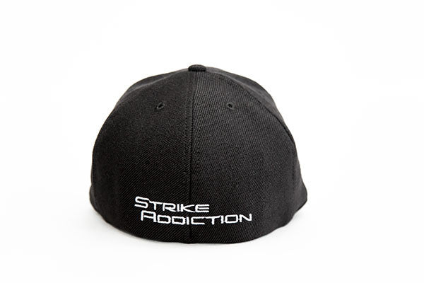 USA Made - Black 6-Panel Stretch Wool Pro Cap - Offset Logo