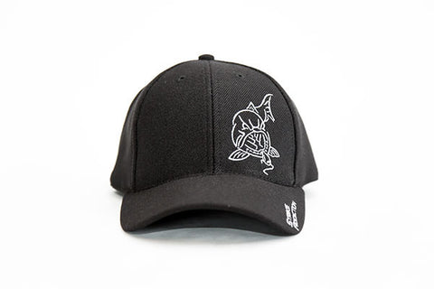 USA Made - Black Stretch Wool Pro Cap - Offset Logo