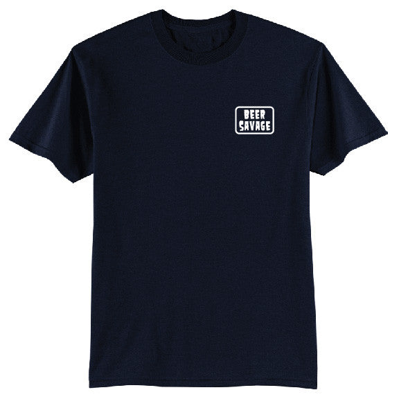 Patched Tee - Navy