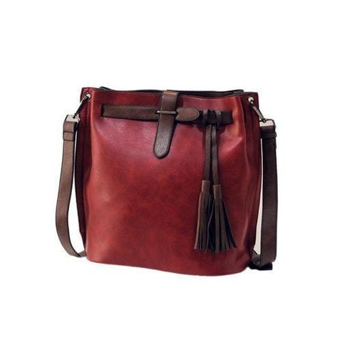 Image of Bags & Wallets - Women's Bucket Vintage Messenger Bag
