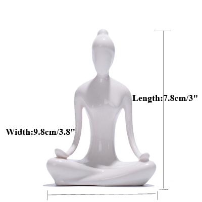 Ceramic Yoga Poses Figurines