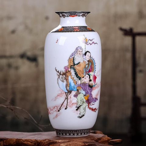 Image of Elegant Chinese Ceramic Animal Vase