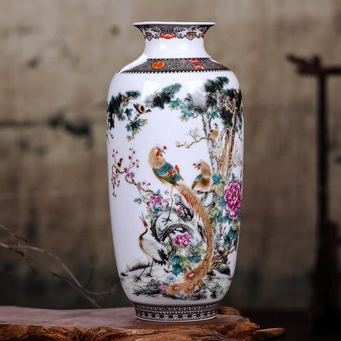 Elegant Chinese Ceramic Animal Vase