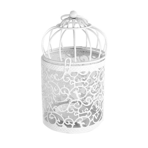 Image of Hanging Lantern Bird Cage Candle Holder