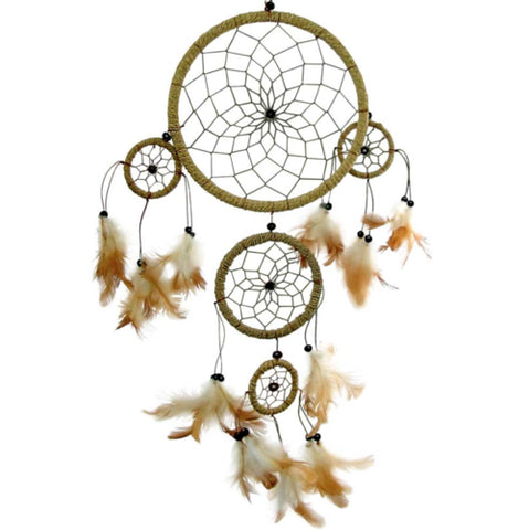 Home & Garden - Beautiful Natural 3 Tier Dreamcatcher
