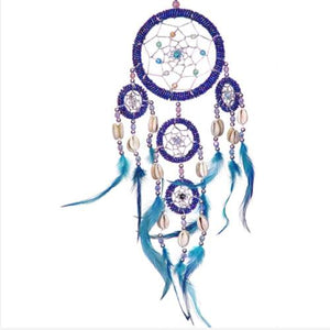 Home & Garden - Bright Blue Colorful Dreamcatcher