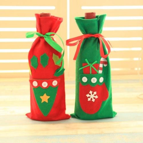 Image of Home & Garden - Holiday Wine Bottle Cover Bag