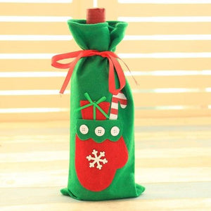 Holiday Wine Bottle Cover Bag