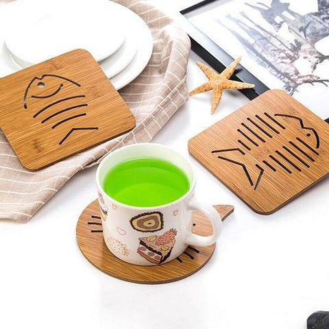 Image of Home & Garden - Wooden Animal Coasters
