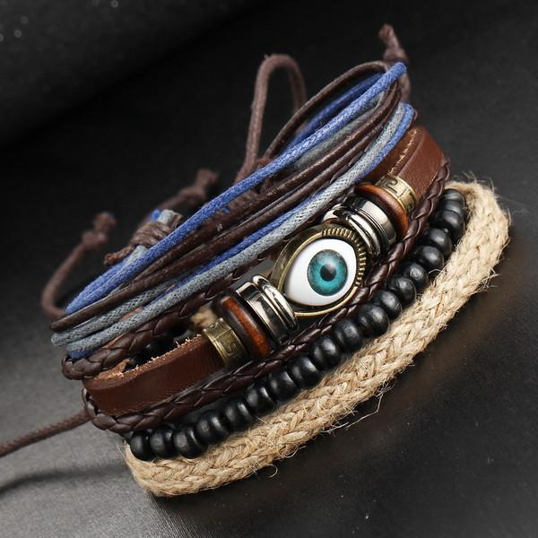 Jewelry - Multi-Layer Men's Leather Bracelet