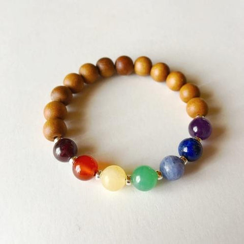 Jewelry & Watches - 7 Chakra Bracelet ~ Sandalwood Mix