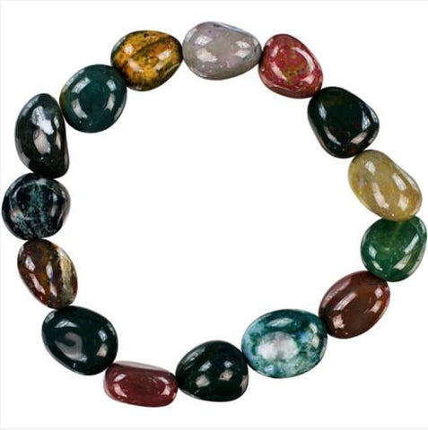 Jewelry & Watches - Genuine Tumbled Fancy Jasper Bracelet